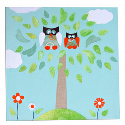 Two Owls Canvas