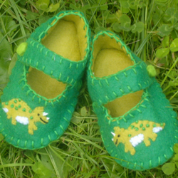 Dinosaur Felt Baby Shoes