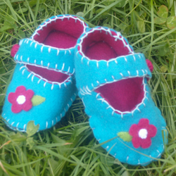 Flower Baby Shoes
