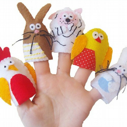 Fun with the  Easter Animal Finger Puppets