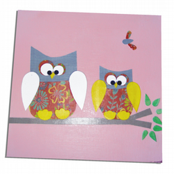 Pink Owl Canvas