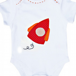 Personalised Rocket Babygro