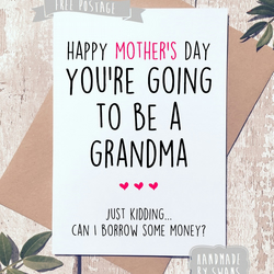 Mother's day card - You'e going to be a grandma