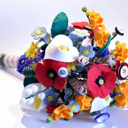 Widflower inspired handmade felt button bouquet