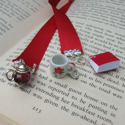 Bookmark - Coffee Bookworm Book
