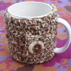 Very Chunky 100% Wool Mug Cosy - No Flower