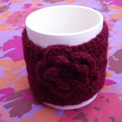 Chunky Crocheted 100% Wool Mug Cosy