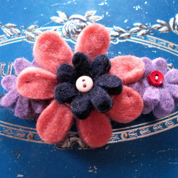 Felt Flower Barrette