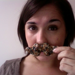 Knitted Moustache Brooch