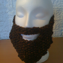 Knitted Brown Beard