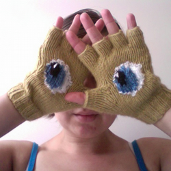 Knitted Eye Gloves