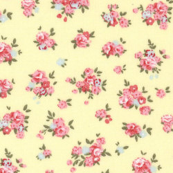 Rose & Hubble cotton poplin Small Floral in Lemon