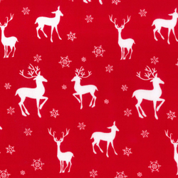 Scandi Nordic Christmas Reindeer in red half metre