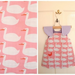 the swans, reversible dress for age 1-2yrs