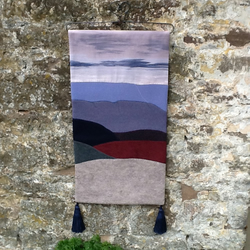 Textile Art Wall Hanging in Blue - Free Delivery