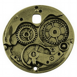 2 x Large Imitation pocket watch works