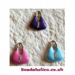 3 Enameled Hand bag Charms