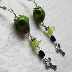 Funky Skull Dangly Earrings