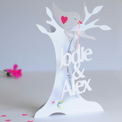 Personalised 3.D Paper Cut Wedding,Anniversary,Engagement Card.