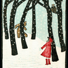 Hello Bear - 10 Christmas Cards - from an original woodcut print