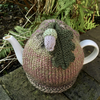 Olive and Pink Acorn Tea Cosy