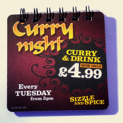 Recycled Curry Night Beer Mat Handbag Book