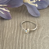 Sterling silver and Swarovski stacking ring - Crystal Shimmer