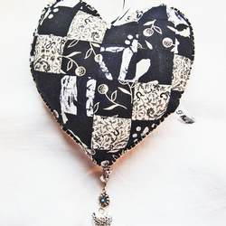 Decorative Heart in Patchwork