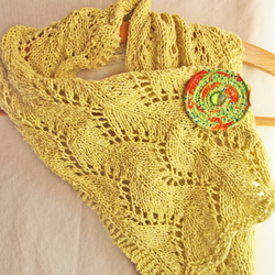 Summer Scarf - Jeager Lime -  FREE P&P