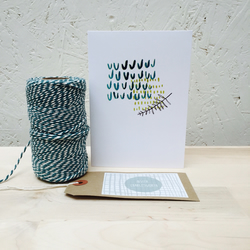 Acid Fern Digital Print Card
