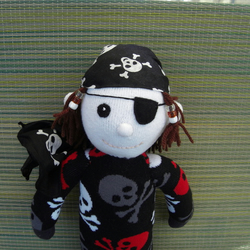 Pirate Sock Doll Barnacle Bill, by Socklings