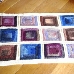 Hand-knitted COT BLANKET