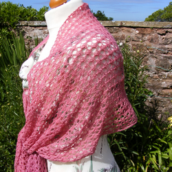 Delicate lace summer shawl