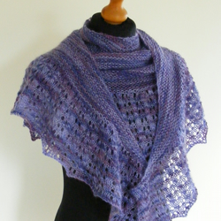 Lavender & Heather Mohair Shawl