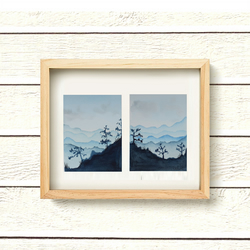 "Set of two Original Watercolour Paintings daily painting landscape 4.5"" x 6"""