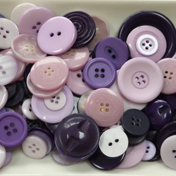 Bag of buttons, various shades of purple. Great for a variety of crafts