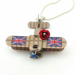 Airplane Necklace Best of British Aeroplane