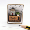 Miniature Pencil House with faux plant, Dad, Father's Day gift