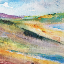 Greetings Card - Colourful Summer Landscape