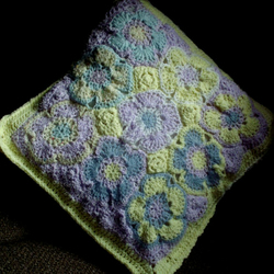 Crochet Cushion (Patched by Dianthus)