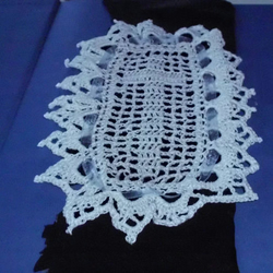 Cross Filet Lace Bookmark
