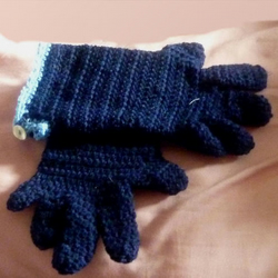 Navy chique gloves