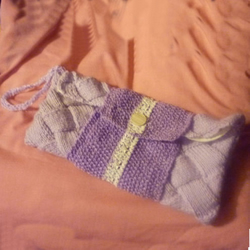Lilac Quilt Effect Clutch