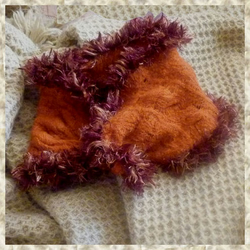 Burnt Orange Felted Cowl