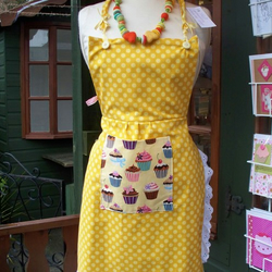 yellow dotty apron