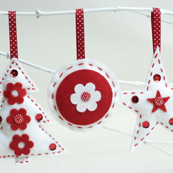 SEWING KIT: FELT CHRISTMAS DECORATIONS - 3 PACK