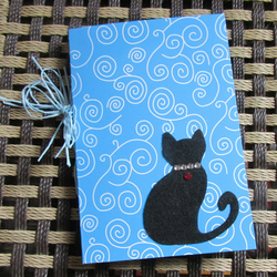 Cat themed multi-media notebook - scrapbook
