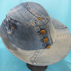 Recycled Denim Trilby style hat