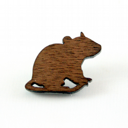 Mouse Silhouette Pin