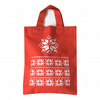 Christmas jumper pattern red mini tote bag